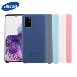 Image 1 - Samsung S20 Plus Case Official original Silky Silicone Cover Soft Touch Back Protective Shell For Samsung S20 Ultra Phone Cover