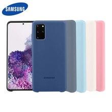 Samsung S20 Plus Fall Offizielle original Seidige Silikon Abdeckung Soft Touch Zurück Schutzhülle Für Samsung S20 Ultra Telefon abdeckung