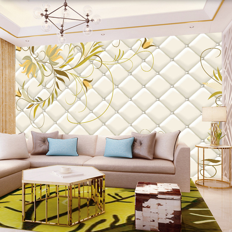 Modern Minimalist TV Backdrop Wallpaper Home Improvement Butterfly Flower Seamless Wallpaper Wall Cloth Living Room Sofa Bedroom