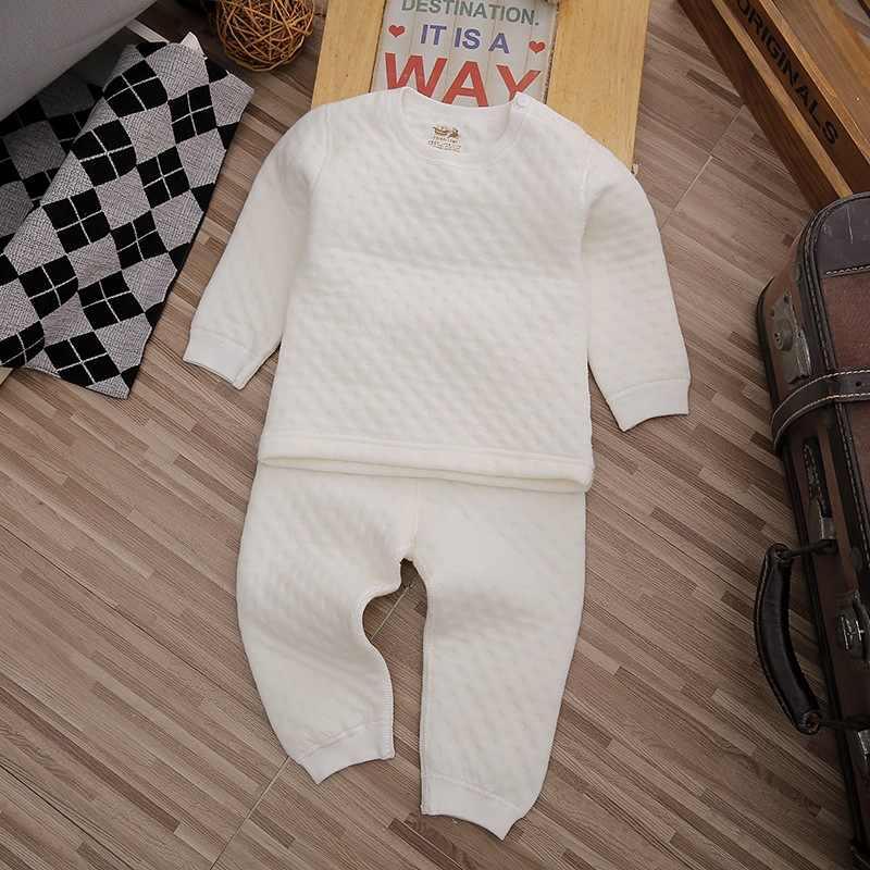 Ropa de bebé de 1 a 4 años de edad, conjunto de ropa interior acolchada cálida para invierno, ropa de bebé vestimenta para hombres y mujeres, fábrica