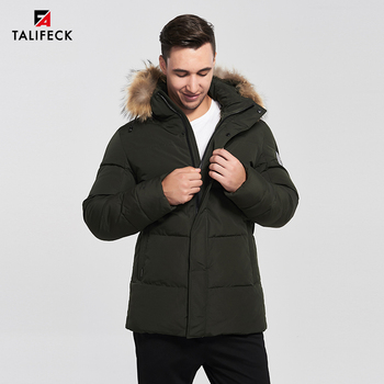 2020 New Men Winter Parka Casual Padded Coat Hooded Jacket Real Raccoon Fur Russian Coats Thick Cotton Overcoat