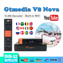 GT MEDIA V8 Nova support Cccam Cline Spain for satellite receiver Built-in WIFI Satellite EPG H.265 DVB-S2 decoder