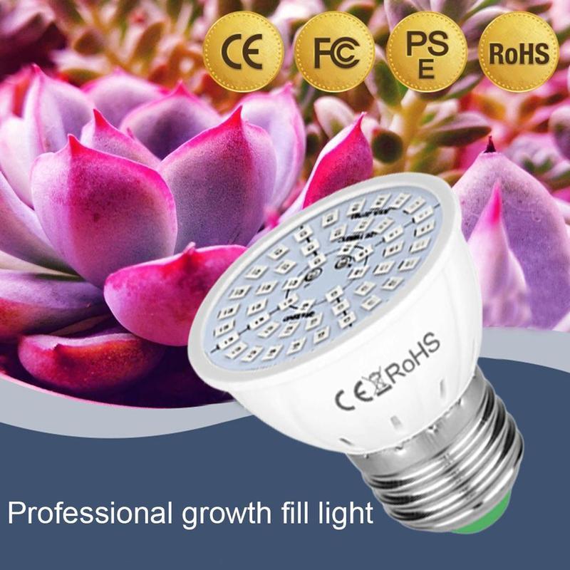 Phyto Led Hydroponic Growth Light E27 Led Grow Bulb MR16 Full Spectrum 220V UV Lamp Plant Flower Seedling Fitolamp