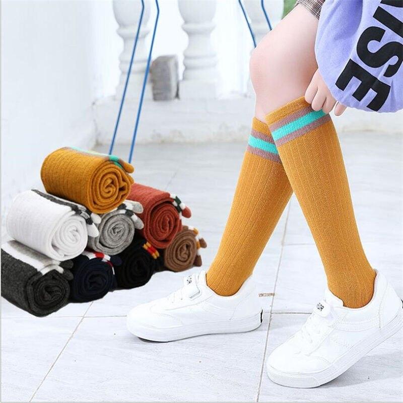 Socks High Quality Thigh High Socks Over Knee Rainbow Stripe Girls Long Socks Women Over Knee Stripe 2019 New Arrival
