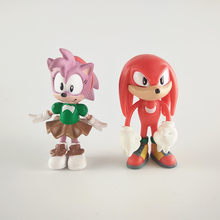 Super Sonic Action Figures, Mainan Merah Biru Buku-buku Jari Ekor Landak Sonic Figures, Mainan(China)