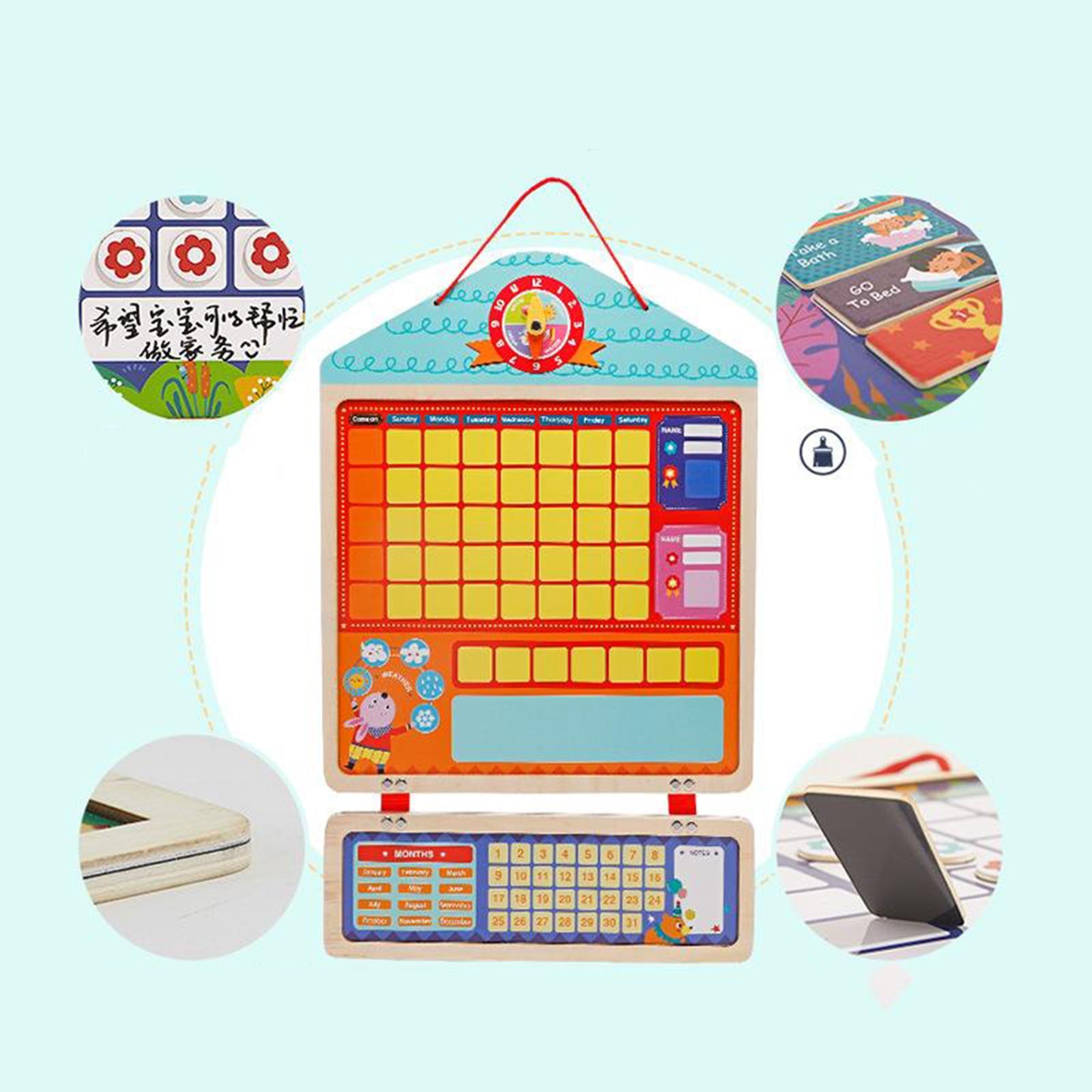 My Magnetic Calendar Activity Self Discipline Kids Schedule Education Toys