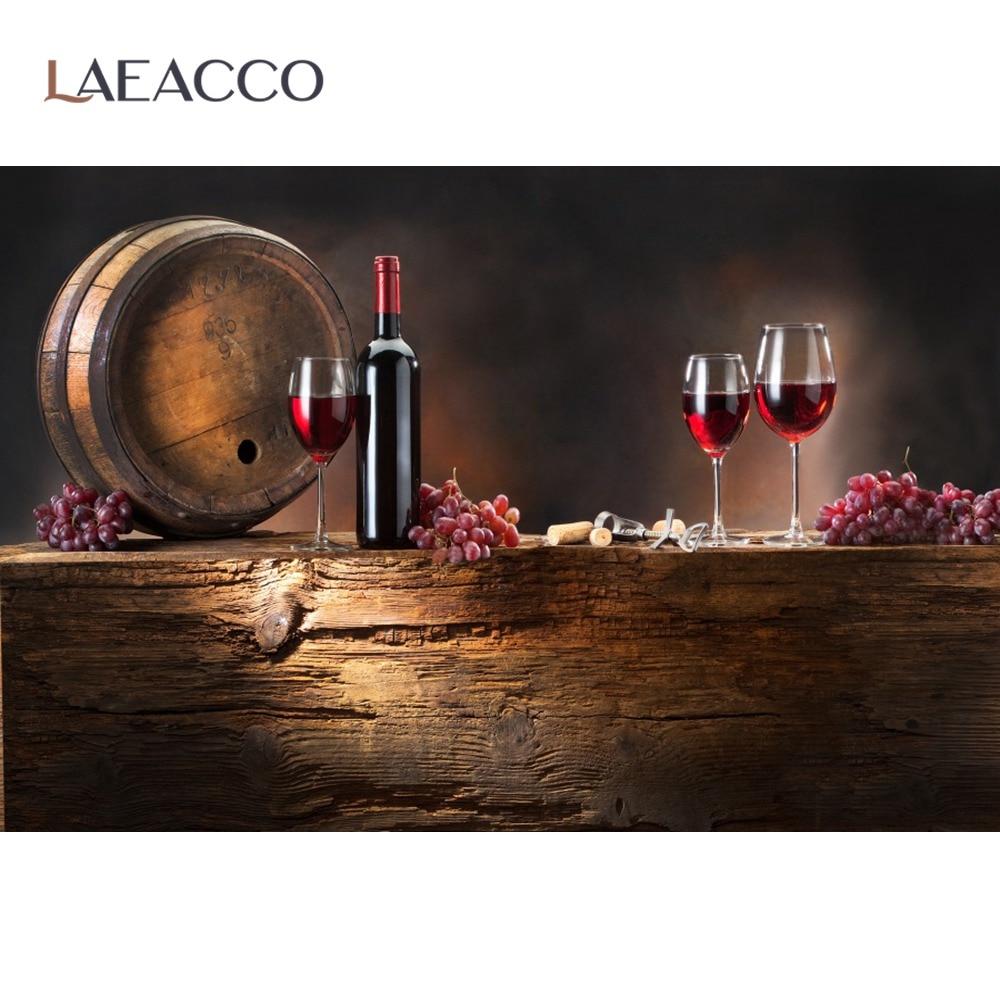 Laeacco винтажный фон для фотосъемки с изображением деревянной банки винограда вина фермы сельской осени Живописные фоны для фотостудии