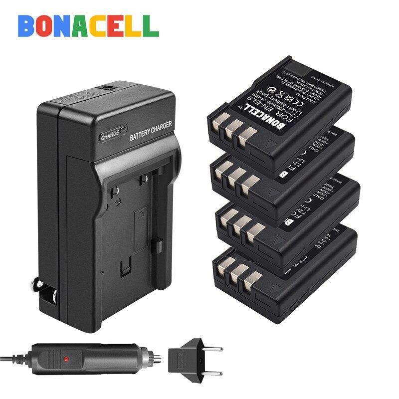 BONACELL EN-EL9 EN EL9 EN-EL9a EL9a camera Battery + Charger For Nikon D40 D60 D40X D5000 D3000 Camera