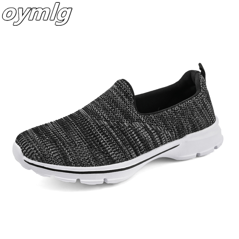 New Autumn Fashion Women Shoes Breathable Mesh Casual Shoes for Women Sneakers Slip-on Ballet Flats Ladies Mother Shoes