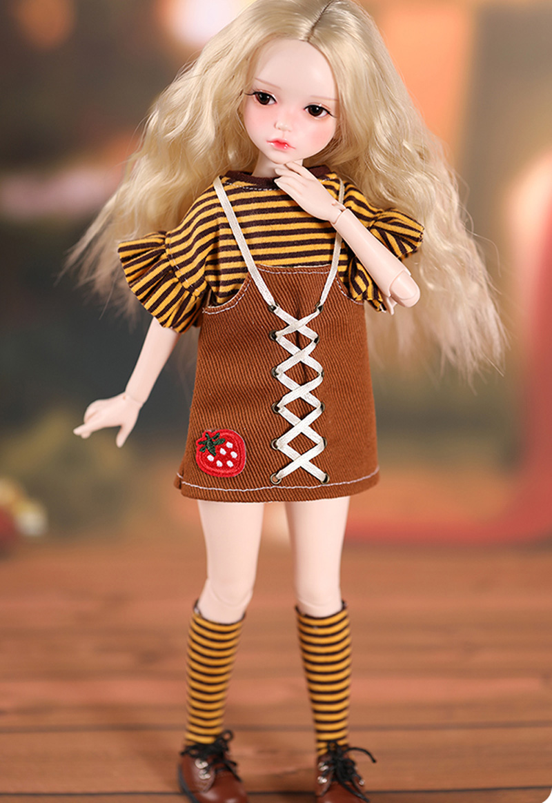Nova boneca bjd 16 boneca conjunto completo