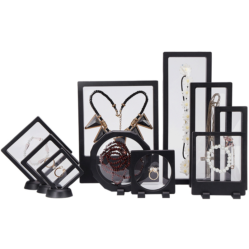 Jewelry Showing Retail Box For Making Up The Balance Of The Transparent Jewelry Display Box Suspended Floating Holder Case