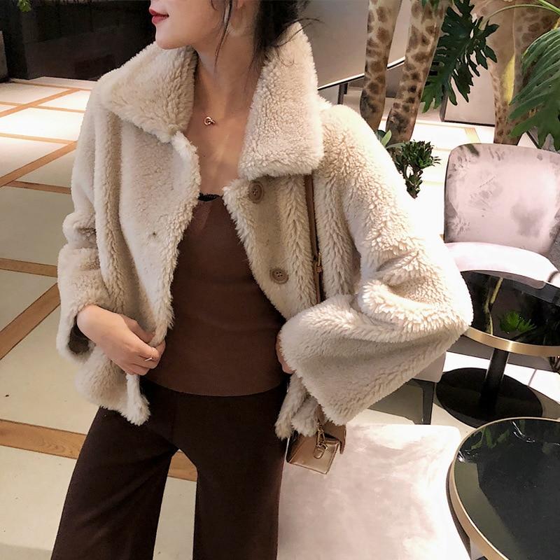 Real Fur Coat Women Sheep Shearing Winter Coat Women Clothes 2020 Korean 100% Jacket Manteau Femme BL-1109 YY1065