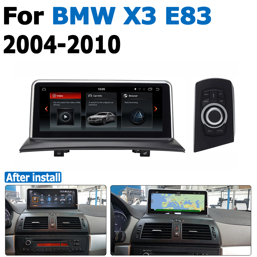 <font><b>Android</b></font> <font><b>8.0</b></font> up <font><b>Car</b></font> DVD Navi Player For BMW X3 E83 2004~2010 Audio <font><b>Stereo</b></font> HD Touch Screen all in one image