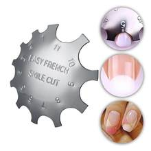 Easy French Line Edge Cutter Stencil Trimmer Tips Design Mould Plate Multi-size Manicure Nail Art Styling Tool Pro(China)