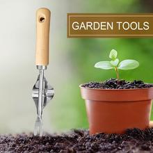 Hot Stainless Steel Agricultural Rake Household Digging Loose Soil Root Transplanting Device Shovel Manual Weeding Garden Tools