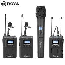 Boya BY-WHM8 pro microfone portátil sem fio wm8 pro uhf transmissor dinâmico unidirecional microfone para o filme de palco receptor eng microfono