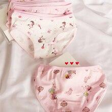 Panties Kids Underwear Briefs Shorts Baby-Girl Cartoon-Design Children's Lot 4pcs Dancing-Zl32