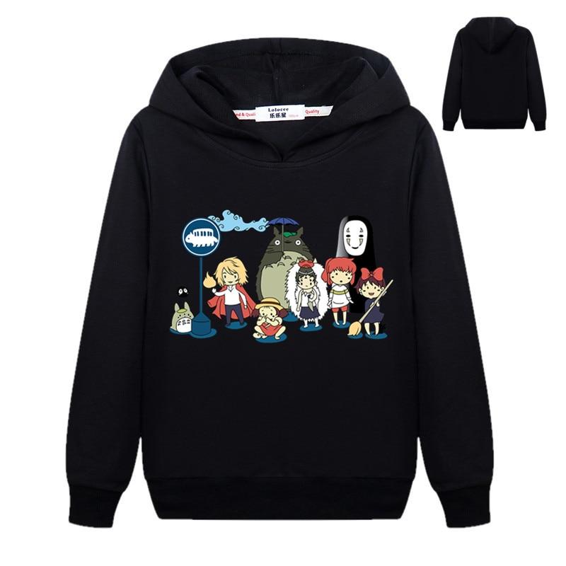New Cute Totoro Sweatshirt Kids Boys Cartoon 3D Harajuku Casual Tops Girls Pullover Hoodies Student Clothes 2