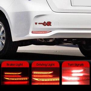 Image 1 - 2PCS Auto LED Reflektor Für Toyota Corolla 2019 2020 Auto LED Hinten Nebel Lampe Bumper Licht Bremsleuchte Dynamische blinker