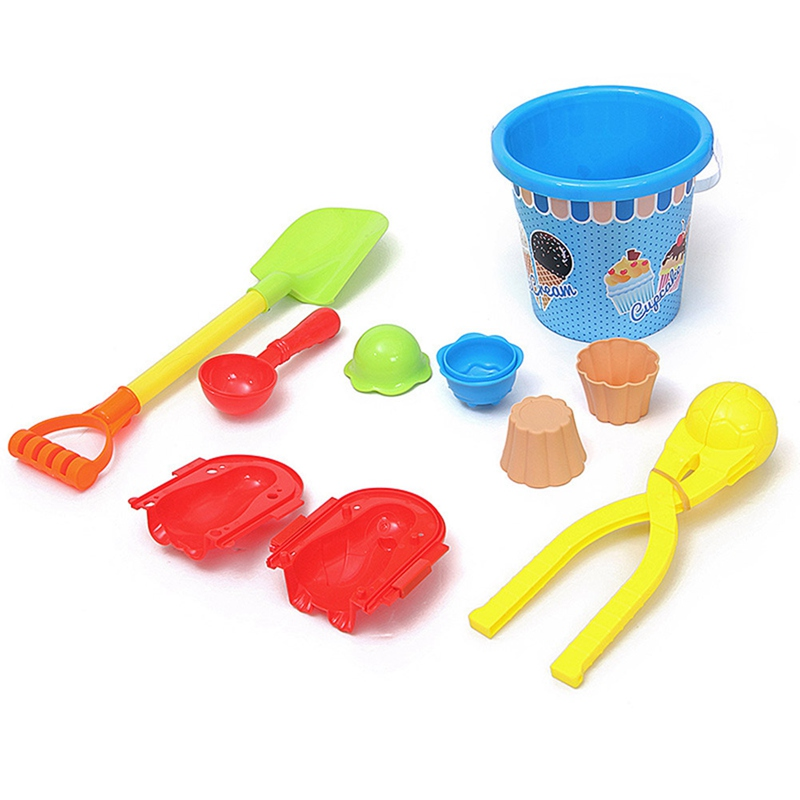 Snowball Fight Play Snow Suit Snowball Clip Ice Cream Bucket Shovel Snow Model Toy For Winter image