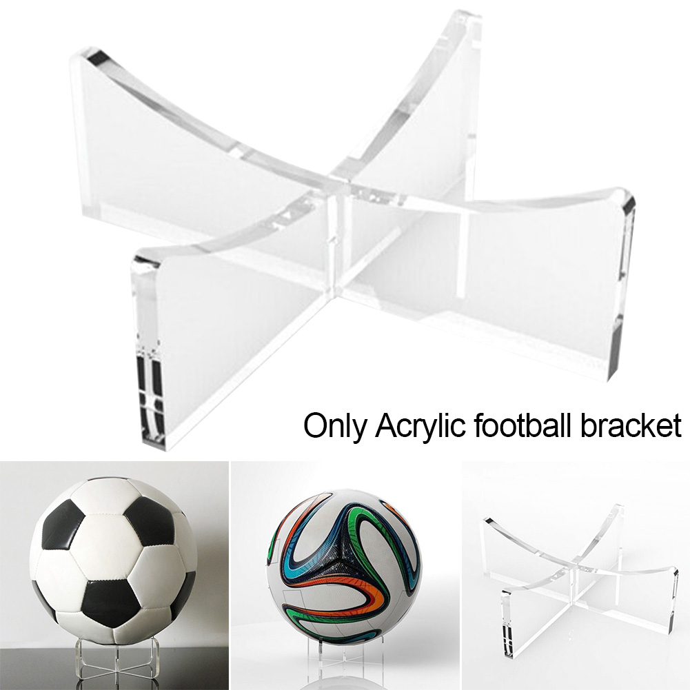 Disassembly Volleyball Signable Display Holder Riser Plinth Freestanding Stable Acrylic Football Stand Storage Rack Multipurpose