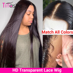 Tinashe Hd Transparent Lace Wig 180 250 Density Lace Front Human Hair Wigs Brazilian Straight Lace Front Wig Lace Frontal Wig(China)