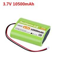 La batteria al litio di Doublepow 3.7V 18650 racchiude la spina di XH 2P dellaltoparlante di Bluetooth della luce LED di pesca della batteria ricaricabile 10500mAh