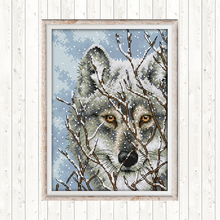 Cross Stitch Patterns Wolf DIY Hand Crafts 14CT 11CT Counted Printed on Canvas Aida Embroidery Kits Needlework Sets