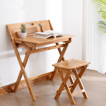 Modern Bamboo Computer Desk Folding Table Bamboo Furniture Children Study Desk For Kids Foldable Compact Bamboo Laptop Table кухонная мойка polygran серый f 15 14