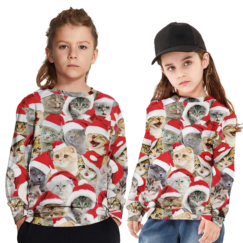 Baulody Baby Boys Girls Ugly Christmas Sweater Toddlers Deer Pullover Sweatshirt