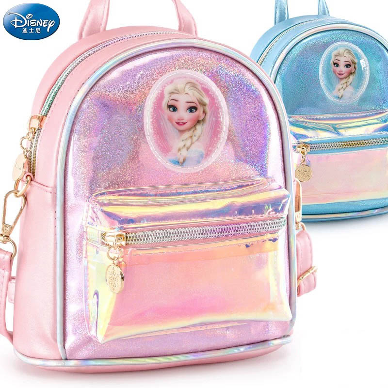 "Disney Frozen Princess Elsa 10/"" School Backpack Toddler Mini Bag Black Pink"