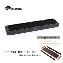 Bykski CR-RD480RC-TK-V2 480Mm Koperen Radiator High Performance Water Cooler Radiator Waterkoeling Heatsink Voor Pc Case