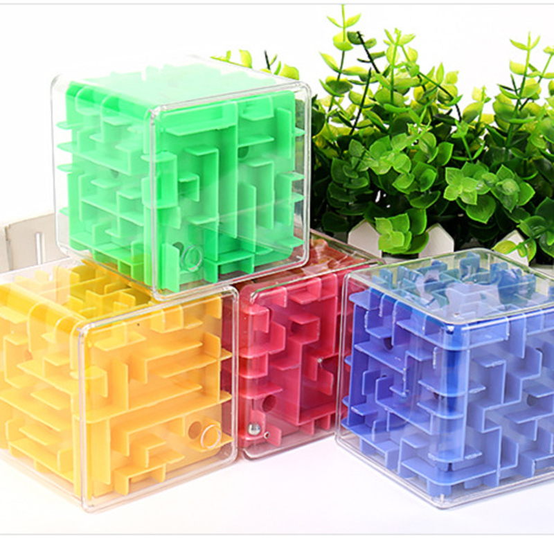 3D Cube Puzzle Education Toys Beads Solid Maze Marbles Adult Stress Relief Toys Children DIY Puzzle Gift Toy Party Game Toy Xmas