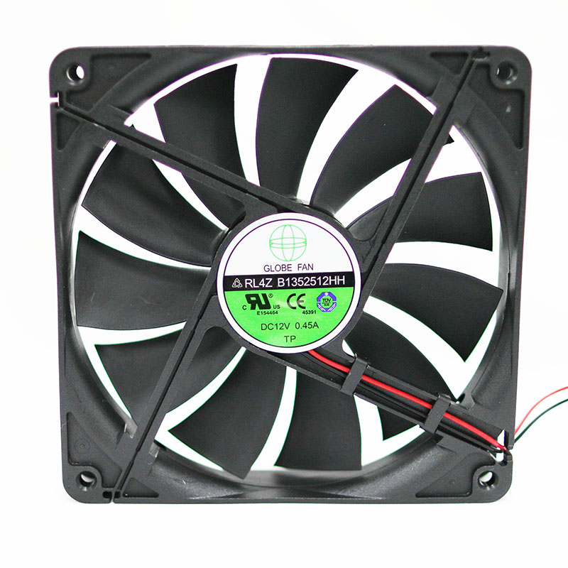 GLOBE FAN RL4Z B1352512HH / B1352512EH / S1352512HH-3M 12V 0.45A 0.50A 13.5CM Chassis Power Cooling Fan 135x135x25mm Cooler