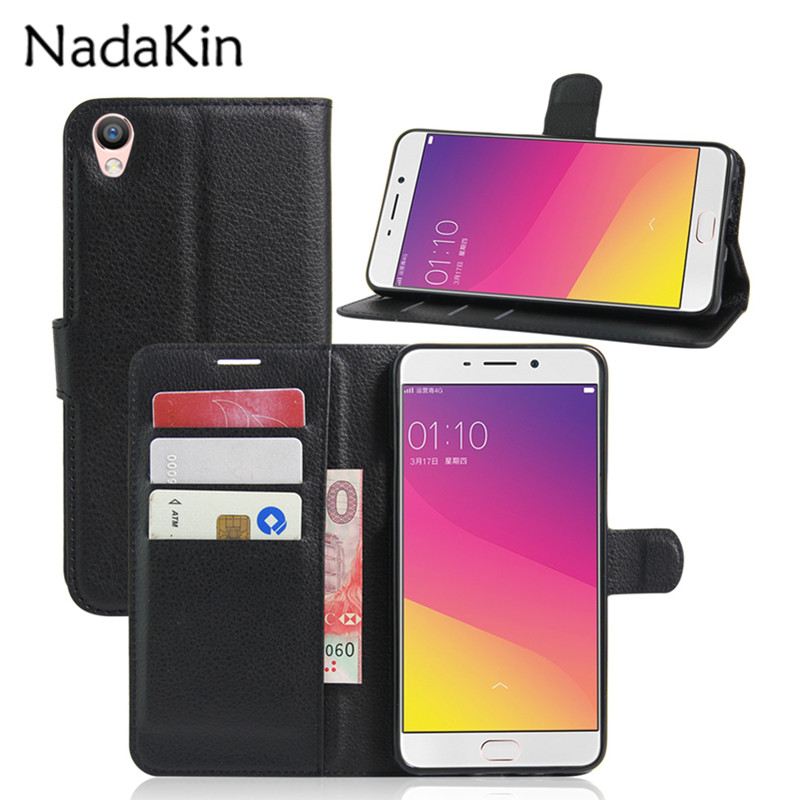 Flip Leather Wallet Case for OPPO R7 R11S R15 Pro F1 F5 F1S F3 Plus F7 Youth A35 A37 A57 A59 A73S A77 Realme 1 Cover image
