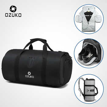 OZUKO Multifunction Large Capacity Men Travel Bag Waterproof Duffle Bag for Trip Suit Storage Hand Luggage Bags with Shoe Pouch - DISCOUNT ITEM  45% OFF All Category