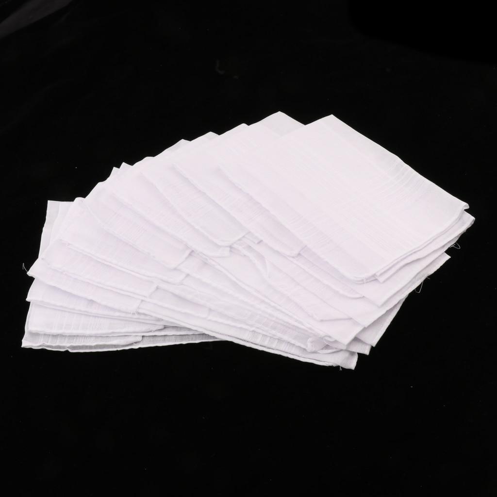 12 Pieces 100% Polyester Solid White Handkerchiefs Women Men Anti Wrinkle Hanky Hankies Kerchiefs