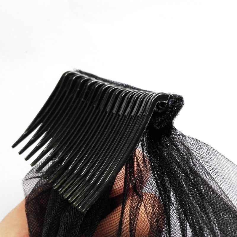 10 قطعة/المجموعة العروس تيارا الحجاب مشط البلاستيك أسود أبيض شفاف شوكة أمشاط