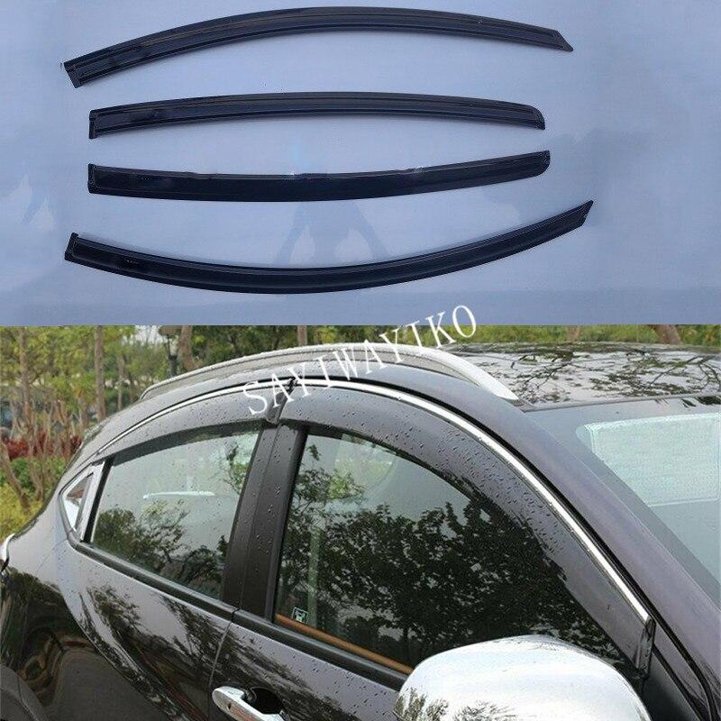 4pcs For Honda HR V 2014 Window Visor Deflectors Sun Guard Rain Vent Shield Car Styling Accessories Car Covers     - title=