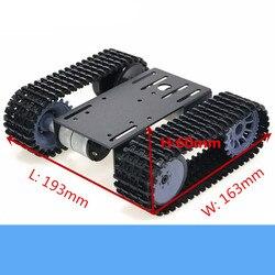 TP101 โลหะสมาร์ท Crawler หุ่นยนต์ถัง CHASSIS ชุดกับ 33GB-520 12V DC มอเตอร์อลูมิเนียม DIY สำหรับ Arduino ของเล่น