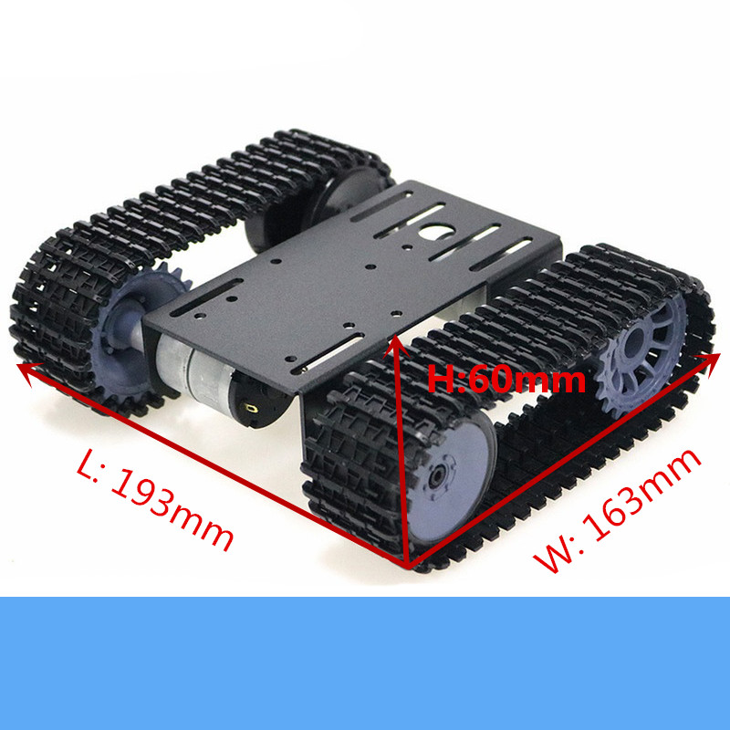 TP101 Metal Smart Crawler Robot Tank Chassis Kit With 33GB-520 12V DC Motor Aluminum Alloy Panel DIY For Arduino Toy