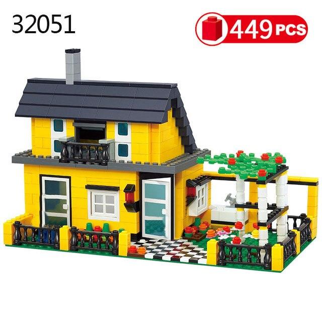 Городская архитектура вилла модель коттеджа Совместимость Legoingly друзья пляж хижина модульный дом деревенские строительные блоки детские игрушки - Цвет: 32051