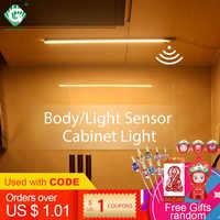 12V LED Unter Kabinett Licht Streifen Bar Aluminnum Motion Sensor Lampe Streifen Küche Schrank Schrank Beleuchtung 6W/8W/10W Nacht Licht