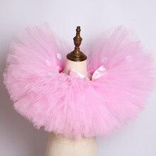 Tutu Girl Skirts Costume Tulle Birthday-Party Pink Fluffy Kids Minnie Children Cute Dot