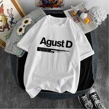 T-shirt Yoongi unisexe imprimé KPOP Agust D, nouvelle version coréenne, album, vêtements pour adolescents cool