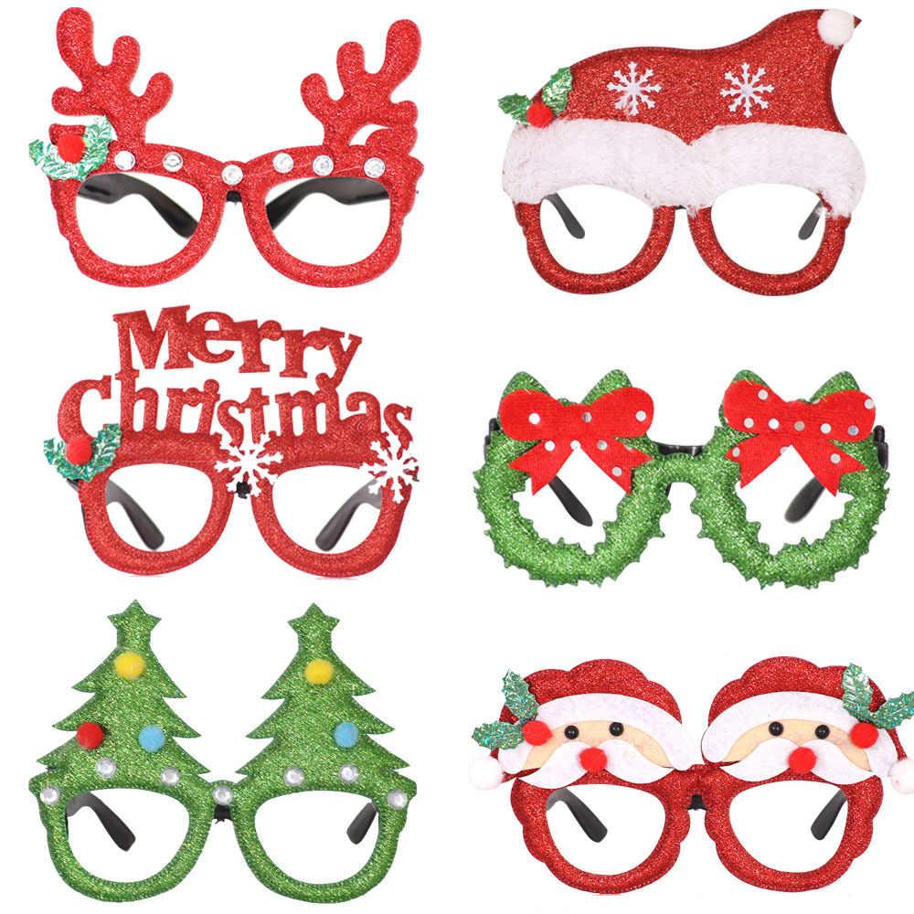 Bella Di Natale Occhiali Cornice Decorativa Multi-pattern di Natale Babbo Natale Pupazzo di Neve Orso Alce Nuovo Anno Decorazione di Natale Capretti del Regalo Dei Bambini