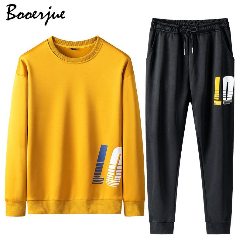 2020 Tracksuit Men Set Contrast Stripes Sweat Jacket+Pants Casual Hoodie Sets Sweatshirt Suit Men Ropa Para Hombre Jogger Suit