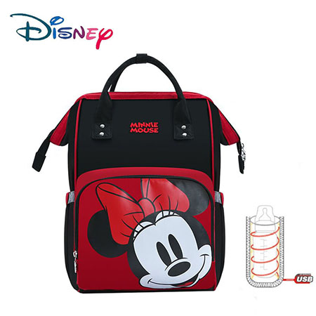 Disney Baby Large Capacity Mummy Diaper Bag Zipper Baby Bag For Mom Multifunctional Diaper Backpack For Mom Maternity Nappy Bag