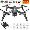 Mjx bugs 5 w b5w gps sem escova rc zangão com 5g 4 k wifi fpv hd câmera de ajuste automático quadcopter vs h117s rc helicóptero dron