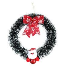 Wieniec świąteczny dekoracje świąteczne z drewna dla domu Santa Snowman świąteczny prezent na wielką choinkę ozdoba bożonarodzeniowa wisiorek Navidad
